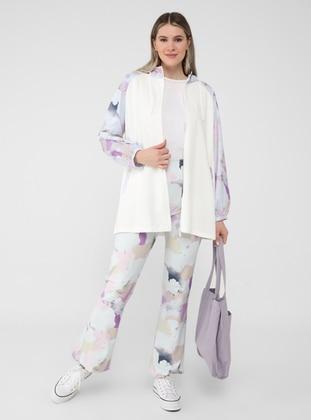Multi - Unlined - Plus Size Coat - Alia