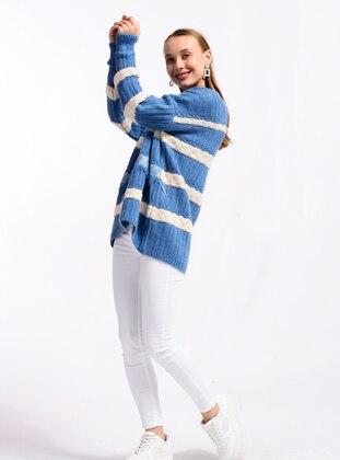 Indigo - Crew neck - Knit Sweaters