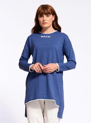 Indigo - Crew neck - Unlined - Knit Tunics