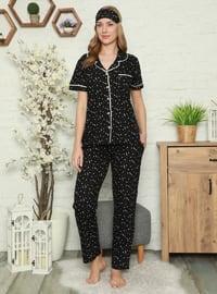 Black - Multi - Pyjama Set