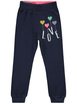 Navy Blue - Girls` Sweatpants - Civil