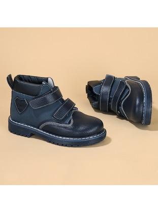 Navy Blue - Boys` Boots - Kiko Kids