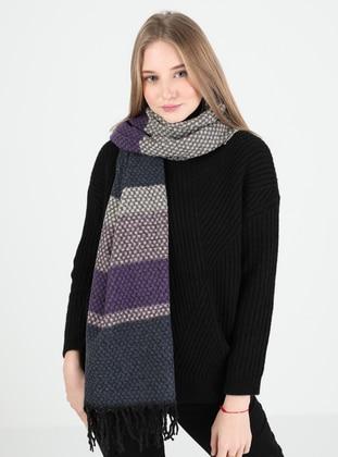 Purple - Printed - Shawl Wrap