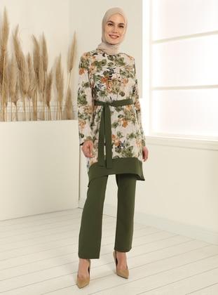 Tunic&Trousers Set - Khaki - Tavin