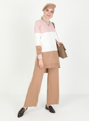 Caramel - Powder - Unlined - Knit Suits
