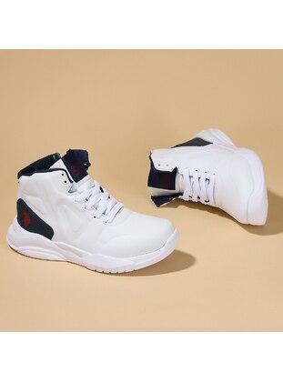 White - Boys` Shoes - U.S. Polo