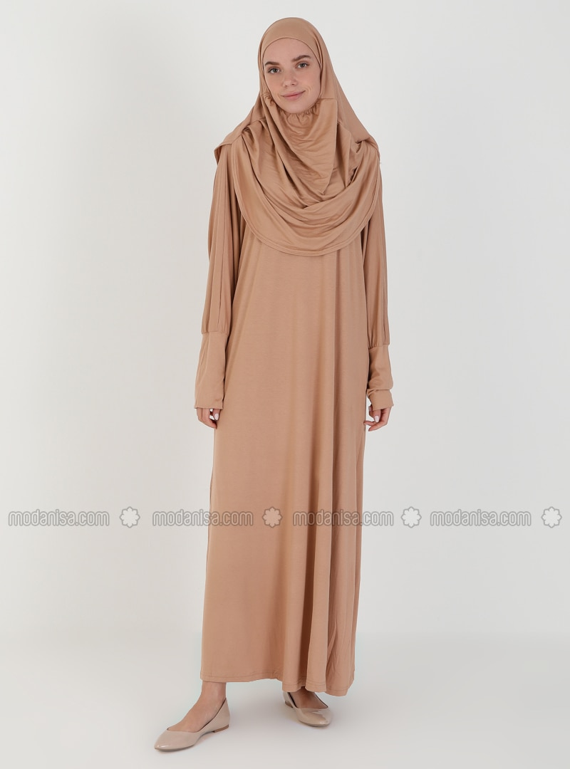 Beige - Unlined - Prayer Clothes - Hal-i Niyaz