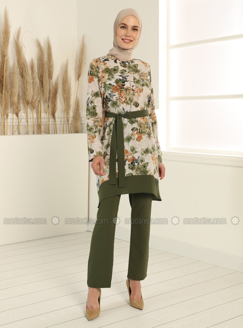 Tunic&Trousers Set - Khaki