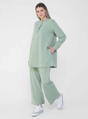 Sea-green - Plus Size Tracksuit - Alia