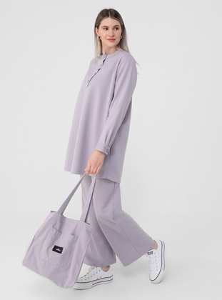 Lilac - Plus Size Tracksuit - Alia