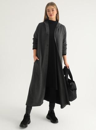 Anthracite - Unlined - Plus Size Coat