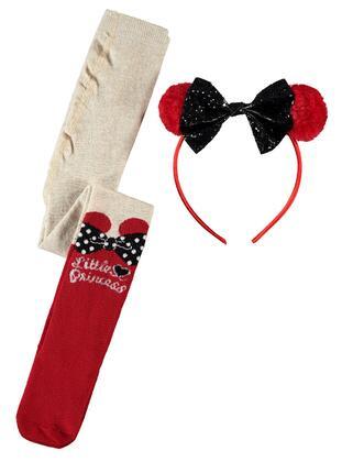 Red - Girls` Socks