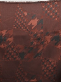 Black - Tan - Printed - Scarf