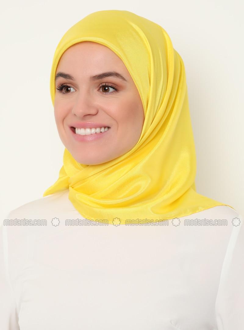 Yellow - Plain - Scarf