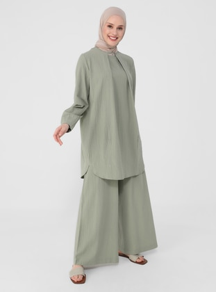 Green - Button Collar - Tunic