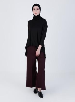 Maroon - Multi - Pants