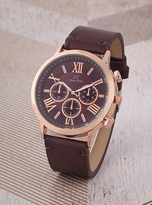 Gold - Maroon - Watch