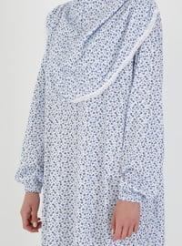 Blue - Multi - Unlined - Prayer Clothes - Hal-i Niyaz