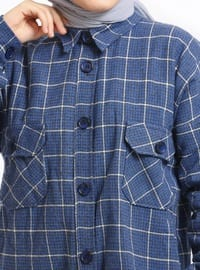 Indigo - Plaid - Point Collar - Tunic