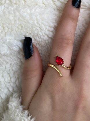 Gold - Red - Ring