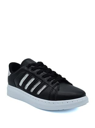 Silver tone - Black - Sport - Sports Shoes