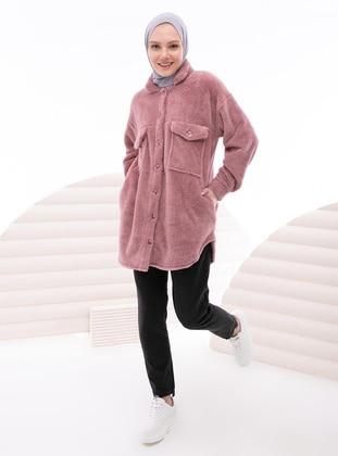 Dusty Rose - Point Collar - Topcoat