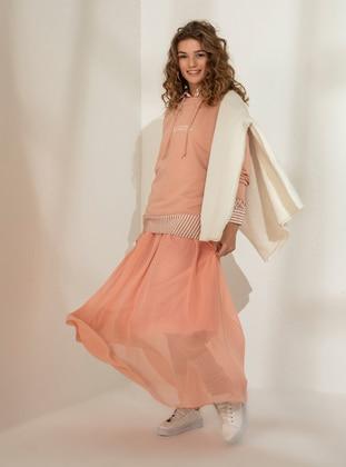 Salmon - Fully Lined - Skirt