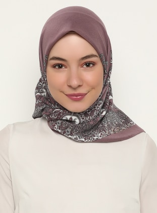 Dusty Rose - Shawl Patterned - Scarf