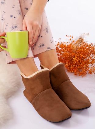 Boot - Brown - Home Shoes - Ayakkabı Havuzu