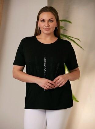 Black - Plus Size T-Shirts - RMG XXL