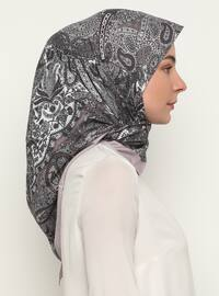 Lilac - Floral - Shawl Patterned - Scarf