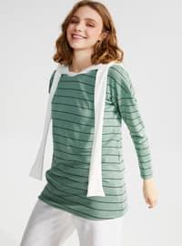 Green - Stripe - Tracksuit Top