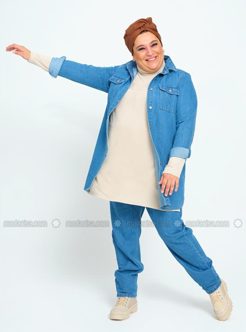 Blue - Plus Size Tunic