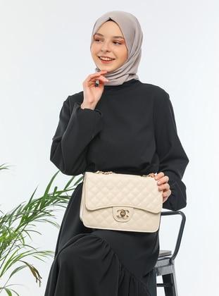 Beige - Beige - Satchel - Shoulder Bags