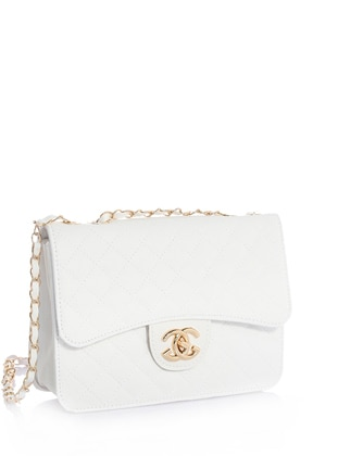 White - White - Shoulder Bags