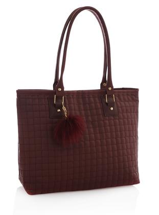 Maroon - Maroon - Shoulder Bags