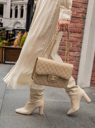 Cream - Cream - Satchel - Shoulder Bags