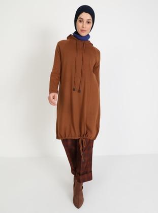 Tan - Unlined - Knit Tunics