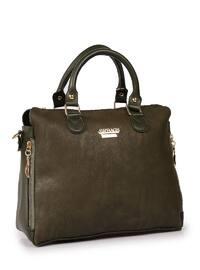Khaki - Khaki - Satchel - Shoulder Bags