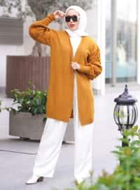 Mustard - Unlined - Knit Cardigans