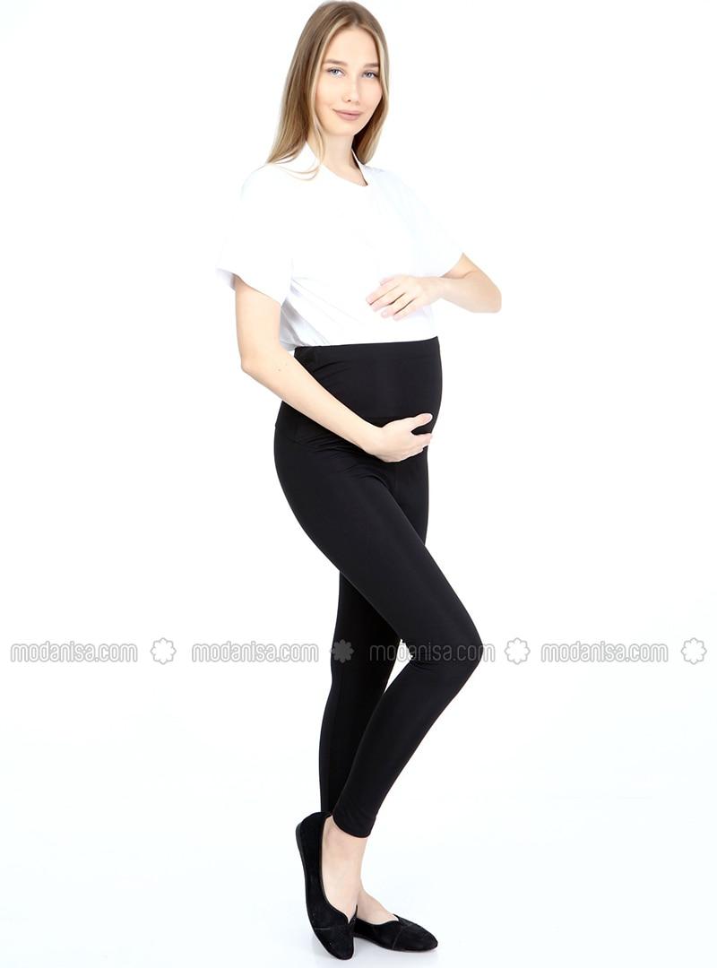 Black - Maternity Leggings