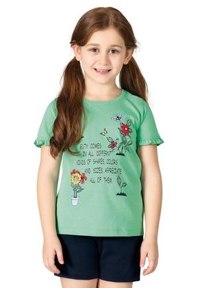 Multi - Green - Girls` Pyjamas