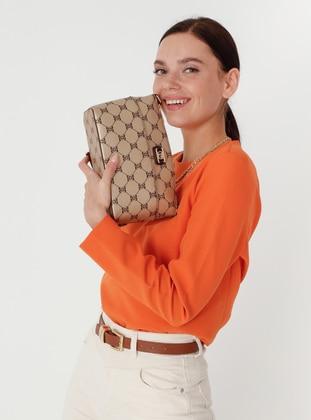 Crossbody - Satchel - Gold - Cross Bag