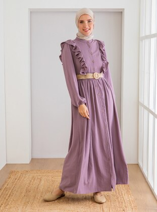 Rose - Crew neck - Unlined - Modest Dress
