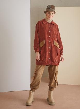 Maroon - Unlined - Point Collar - Topcoat