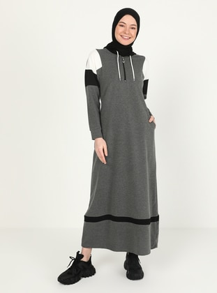 Anthracite - Unlined - Modest Dress