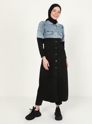 Point Collar - Black - Sweat-shirt