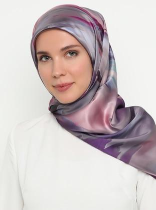 Fuchsia - Purple - Printed - Scarf
