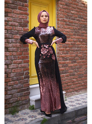 Fully Lined - Dusty Rose - Muslim Evening Dress