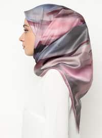 Lilac - Powder - Printed - Scarf